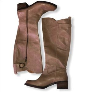 Lucky Brand long boots in camel color